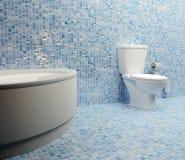 蓝色洗手间 免版税图库摄影