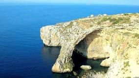 蓝色洞穴在马耳他 股票视频