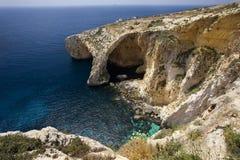 蓝色洞穴马耳他 库存图片