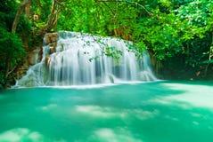 蓝色流瀑布 库存照片