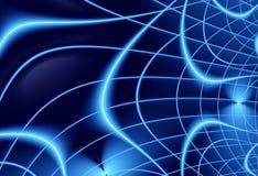 蓝色海军现代抽象分数维艺术 时髦背景例证 向量例证