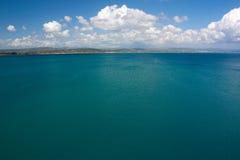 蓝色海在克罗地亚 免版税图库摄影