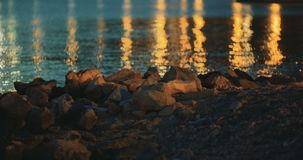 蓝色海或大海表面Bokeh 影视素材
