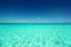 蓝色海或海洋和天空 图库摄影
