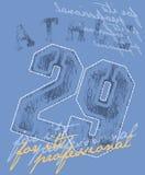 蓝色海报体育运动 库存例证