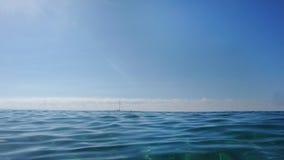 蓝色海景 库存照片