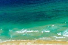 蓝色海洋背景 库存照片