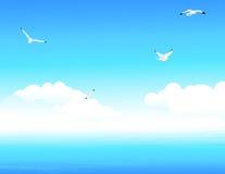 蓝色海洋 免版税库存图片