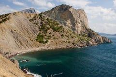 蓝色海湾和海景落后Golitsyn,地标克里米亚,新的世界 库存照片