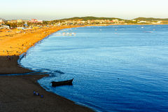 蓝色海湾 库存图片