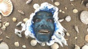蓝色海盗头子喜悦 影视素材