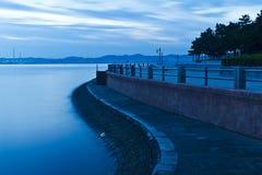 蓝色海边 库存照片