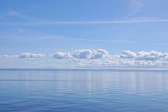蓝色海运天空 库存照片