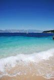 蓝色海运(Corfu) 免版税库存图片
