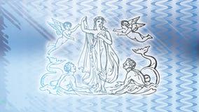 蓝色海金星 免版税库存图片