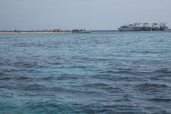 蓝色海,埃及 图库摄影