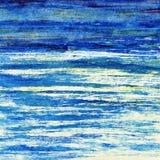 蓝色海洋。 免版税库存照片