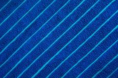 蓝色海滩毛巾纹理 库存图片