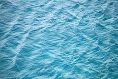蓝色海水照片背景纹理 图库摄影