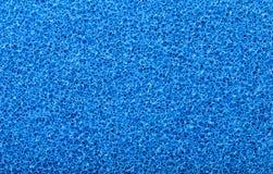 蓝色海绵纹理 免版税库存图片