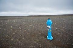 蓝色消防栓 库存图片