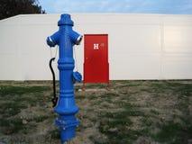 蓝色消防栓 免版税库存图片