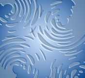蓝色液体喷溅纹理 向量例证