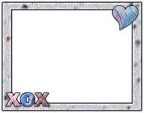 蓝色淡紫色格式xox 免版税图库摄影