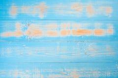 蓝色淡色木头纹理背景 库存图片