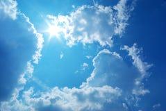 蓝色深天空 库存照片