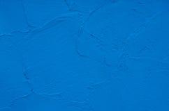 蓝色混凝土墙背景 免版税库存照片