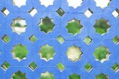 蓝色混凝土墙 免版税库存照片