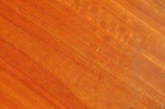 蓝色清楚的上漆的谷物胶木材木头 免版税库存图片