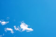 蓝色清楚的天空 库存图片