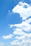 蓝色清楚的形状天空 免版税库存照片