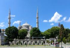 蓝色清真寺伊斯坦布尔,土耳其 库存照片