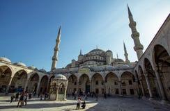 蓝色清真寺伊斯坦布尔 免版税库存照片