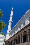 蓝色清真寺侧视图 图库摄影
