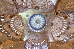 蓝色清真寺内部-伊斯坦布尔,土耳其 库存照片