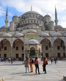 蓝色清真寺圆顶伊斯坦布尔,土耳其 库存照片