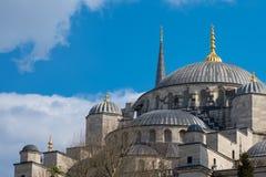 蓝色清真寺在伊斯坦布尔,土耳其 最大的清真寺在苏丹阿哈迈德伊斯坦布尔  免版税库存图片