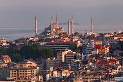 蓝色清真寺在伊斯坦布尔 免版税库存照片