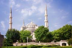 蓝色清真寺在伊斯坦布尔 库存照片
