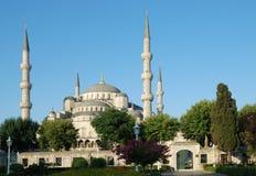 蓝色清真寺在伊斯坦布尔 免版税图库摄影