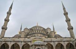 蓝色清真寺在冬天, Istambul 免版税库存照片