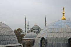 蓝色清真寺在冬天, Istambul 免版税库存图片