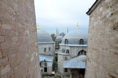 蓝色清真寺在冬天, Istambul 库存图片