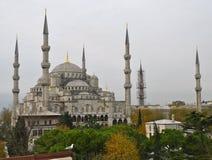 蓝色清真寺在冬天, Istambul 图库摄影