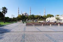 蓝色清真寺外在看法  免版税库存图片
