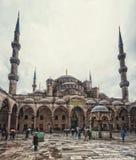 蓝色清真寺庭院,伊斯坦布尔 库存照片